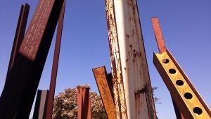 thumb-Tela vira concreto e tinta vira ferro na obra de Chris Burden